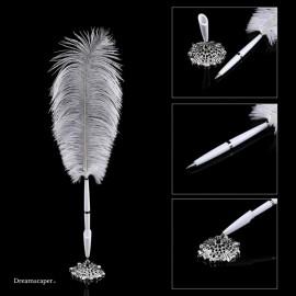 White Feather Pen