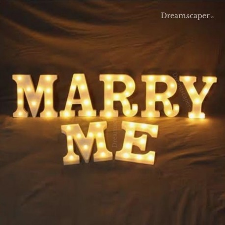 Marry Me Singapore Marquee LED Lights