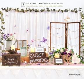 Garden Theme Wedding Reception Decoration