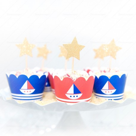 Nautical Cupcake Wrappers