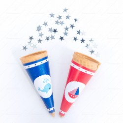 Nautical Ice Cream Cone Wrappers