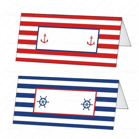 Nautical Party Tent Card