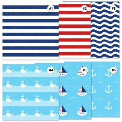Nautical Pattern Cardstock