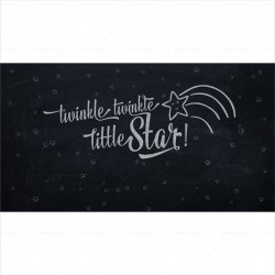 Twinkle Little Star Chalkboard Backdrop