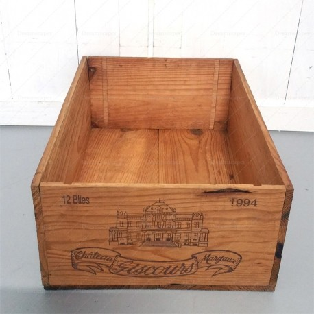 Chateau Giscours Margaux Wooden Crate