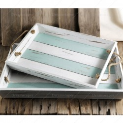 Wooden Trays with Rope Handles