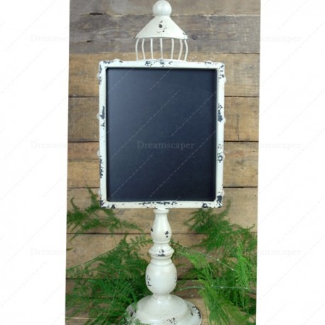 White Metal Frame Blackboard