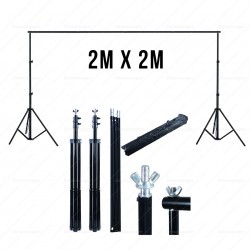 Portable Photo Background Stand - 2 meters