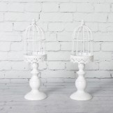 Rent: A Set of 2 Small White Bird Cages
