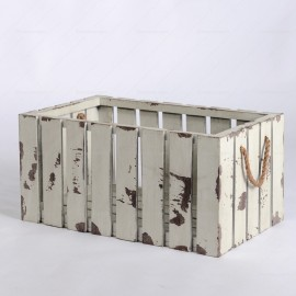 Rent White Wooden Vintage Crate