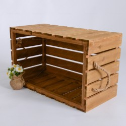 Rent: Wooden Crate with Rope (Brown)