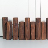 Rent: Wooden Log Fences (25-30cm tall)