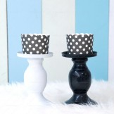 Rent Black & White Candle Stands