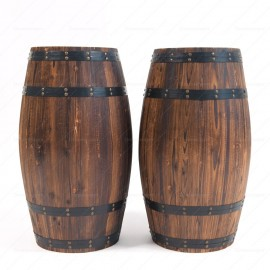 Large Vintage Wine Barrel
