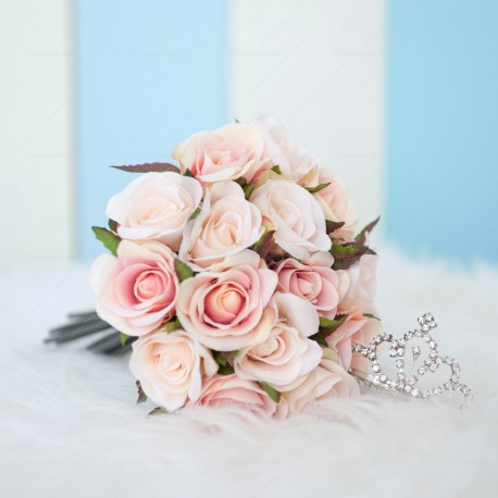 Pink Rose Hand Bouquet