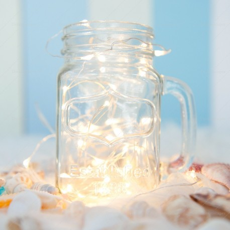 Mason Jar Mug with Fairy Lights
