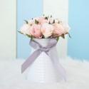 Rent: White Ceramic Vase (Small)