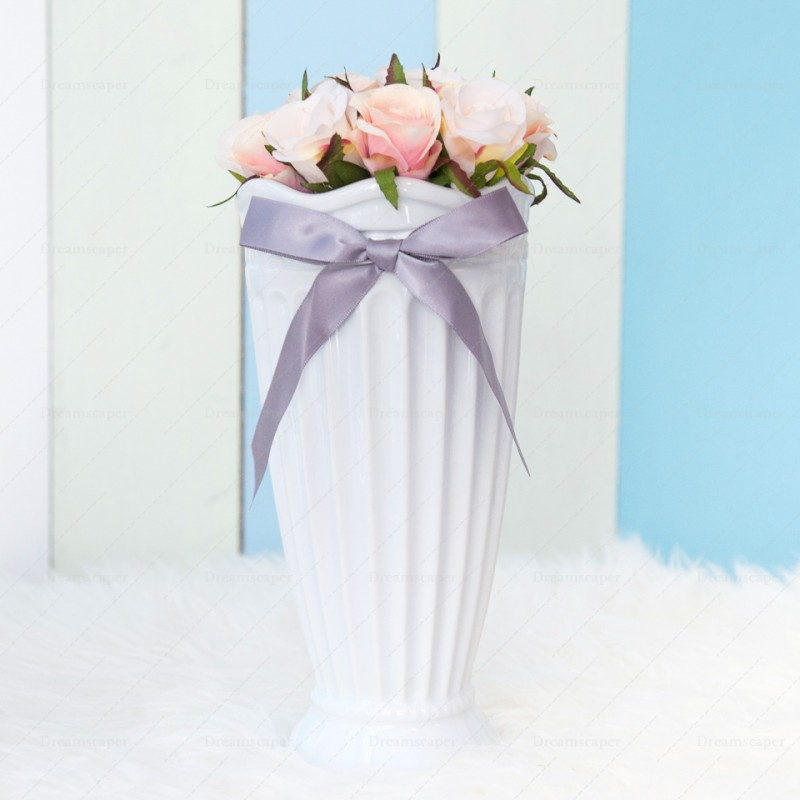 Rent: White Ceramic Vase (Large) - DREAMSCAPER - Home, Party ... on flower table runner, flower chair covers, flower ball rentals, lighting rentals,
