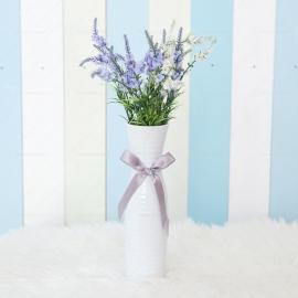 Tall White Flower Vase