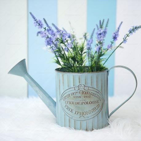 Rustic Metal Flower Can (Large)