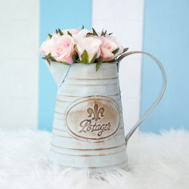 Rustic Metal Flower Pot