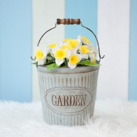 Rustic Metal Flower Pot