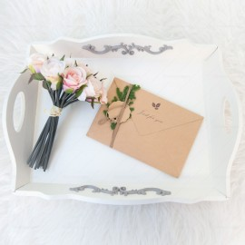 White Wooden Serving Tray
