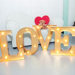 Gold LOVE Marquee Lights