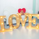 Rent: Gold LOVE Marquee Lights