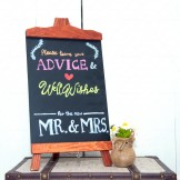 Rent: Wooden Chalkboard Stand (Brown)