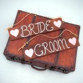 Rent: Bride and Groom Wooden Signs