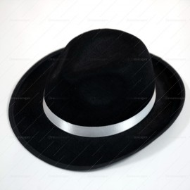 Rent: Black Fedora Hat (Silver)