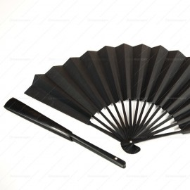 Traditional Chinese Black Paper Fan