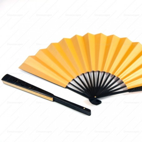 Chinese Paper Hand Fan (gold)