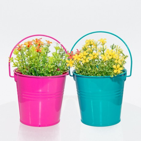 Flower Metal Bucket