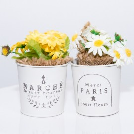 Small rustic flower bucket