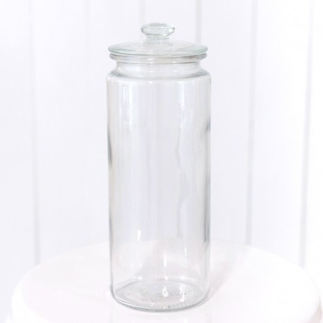 Tall Glass Jar with lid
