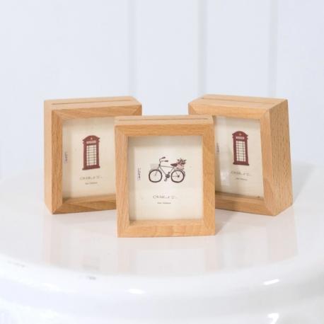 Mini Wooden Photo Frames (Set of 3)