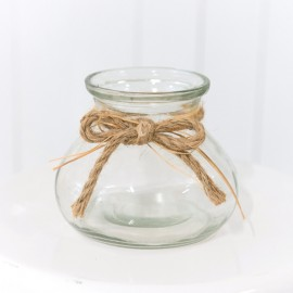 Round Glass Jar