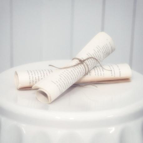 Old Vintage Paper Scroll (set of 2)
