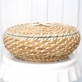 Rent: Rattan Basket with lid (Large)