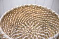 Woven Rattan Basket with lid (Large)