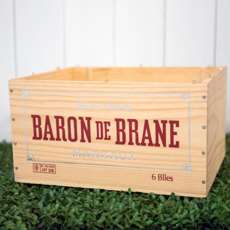 Wooden Wine Crate Baron