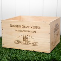 Rent: Wooden Wine Crate Domaine