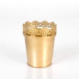 Metal Pot (Gold)