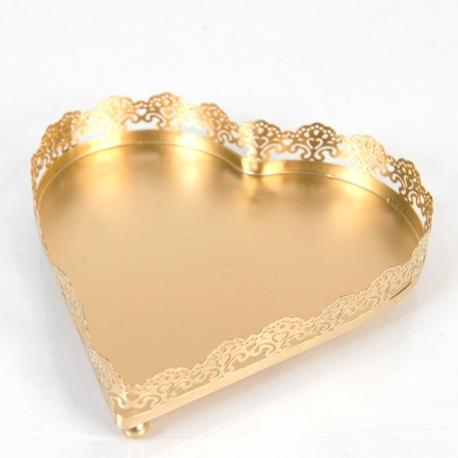 Rent: Heart shape Tray (Gold)