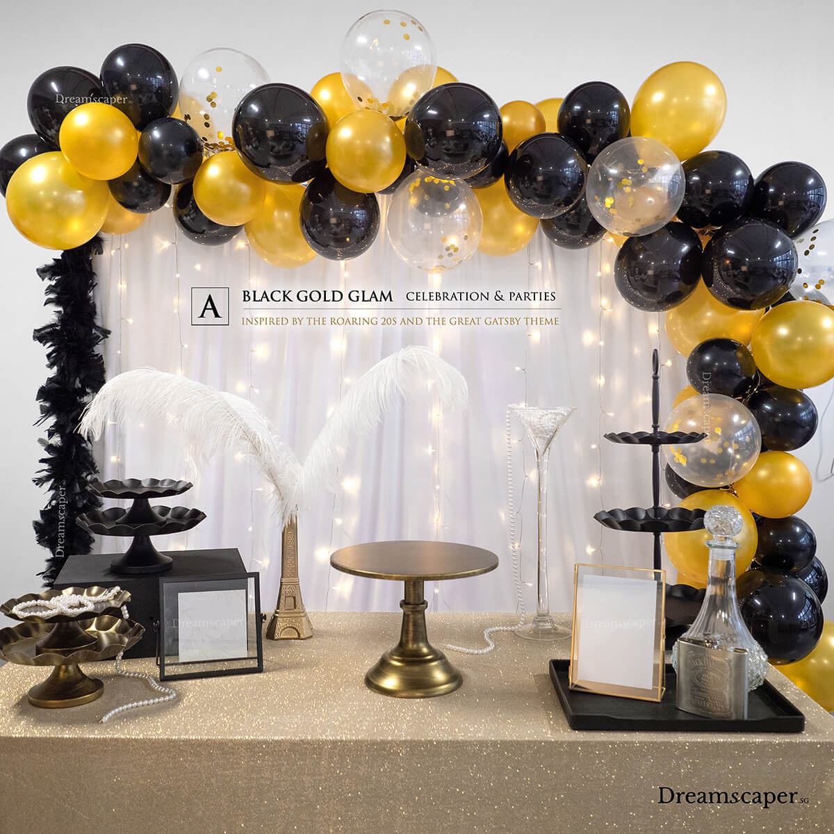 Gatsby Party Decoration Package Singapore