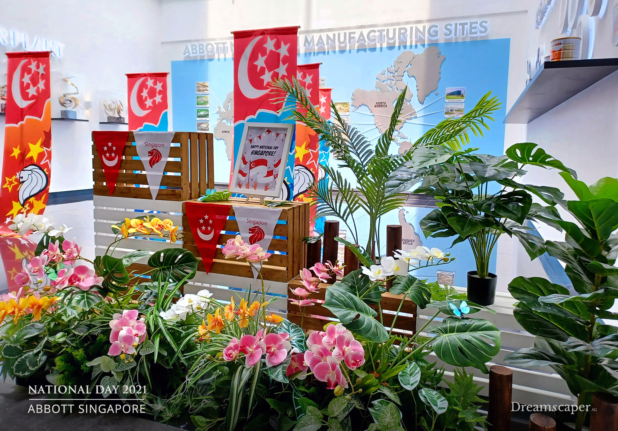 Singapore Orchids Artificial Flowers and Plants
