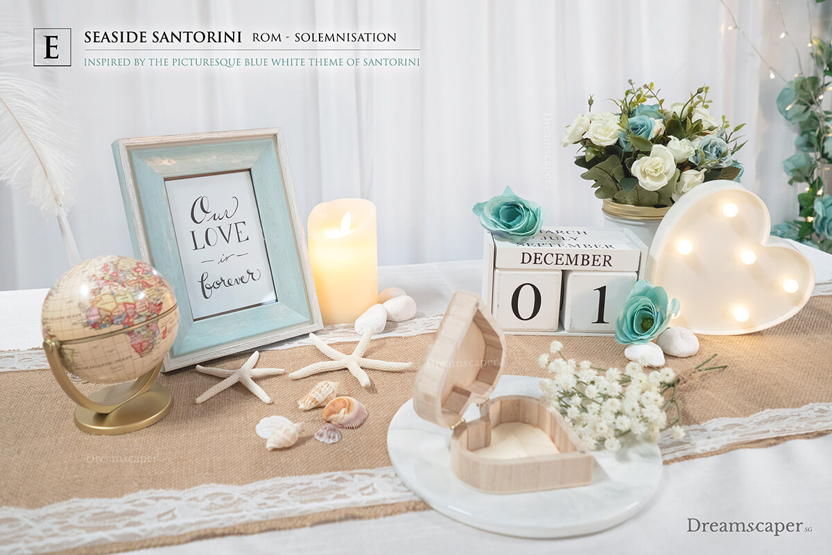Solemnization Table Setup
