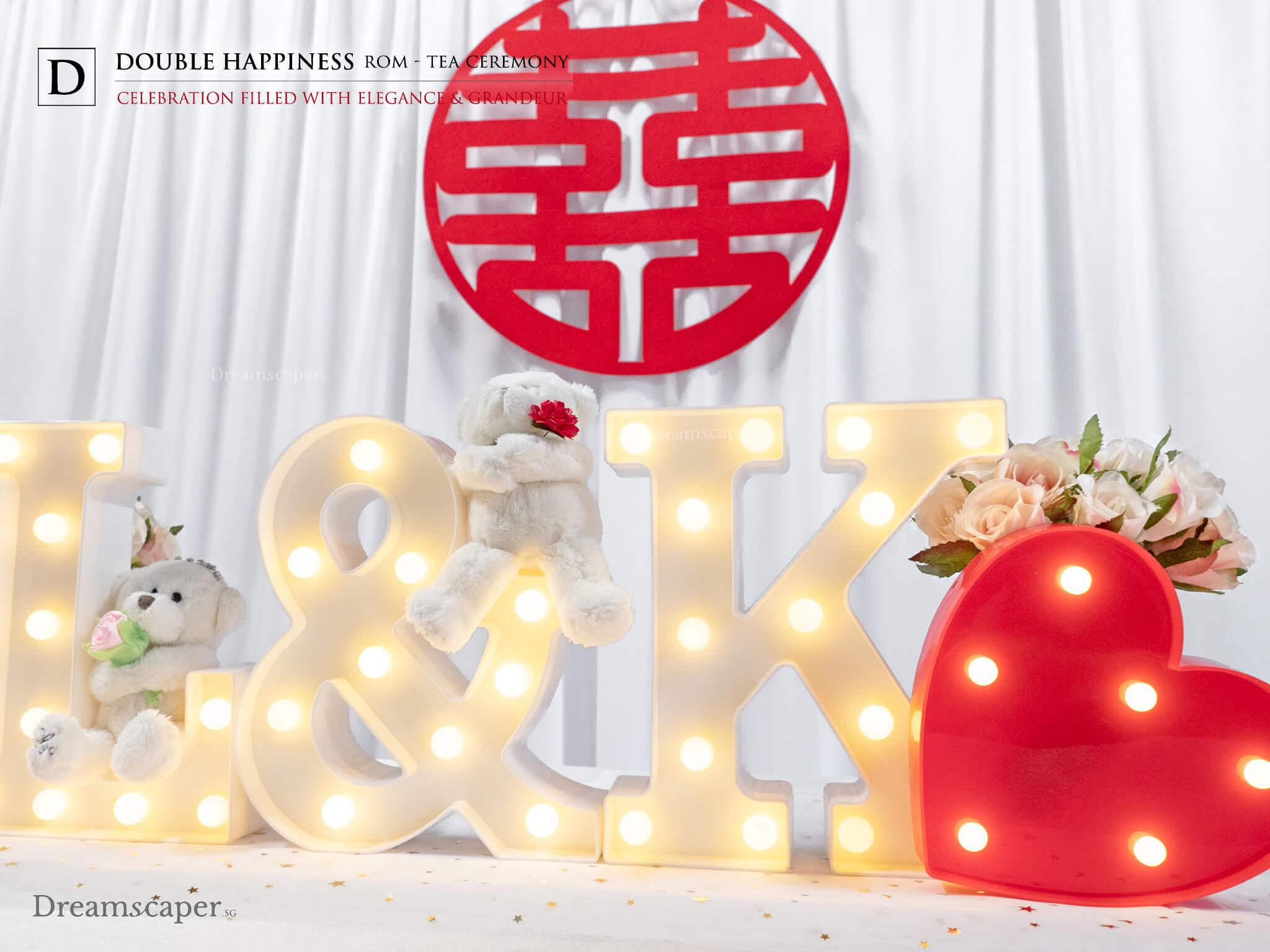 Singapore Chinese Tea Ceremony Decor Setup